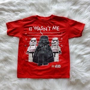 Star Wars Shirt Boys XS Tee Short Sleeve Red 4 5